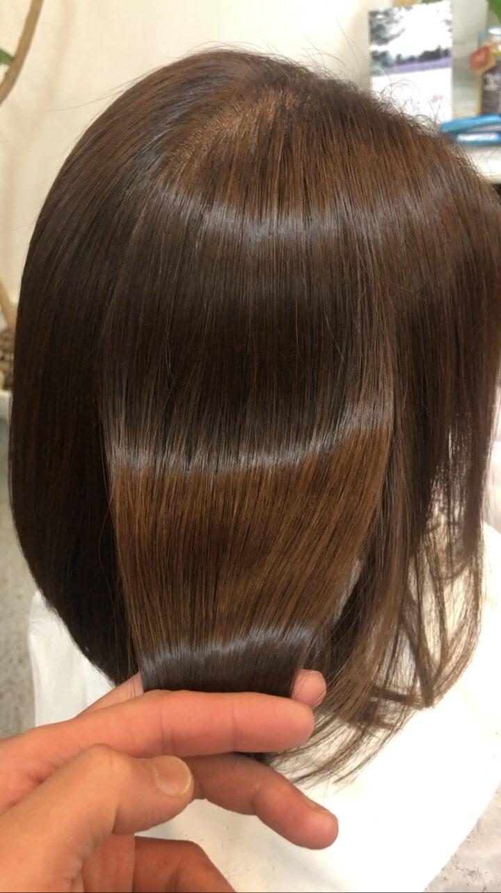 髪型がきまらない梅雨時期は、酸性ストレートをオススメします。の画像